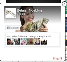 Widget Fanspage FB Melayang di blog