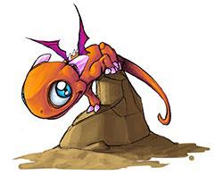 Piti-Crok est un petit dragon orange
