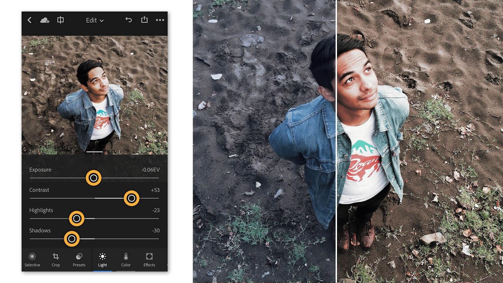 Resultado de imagem para Lightroom efeitos aplicativo