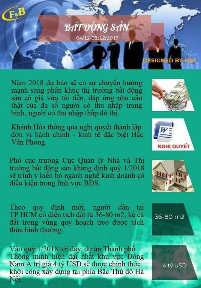 Toàn Cảnh Kinh Tế Tuần 2 - Tháng 12/2017