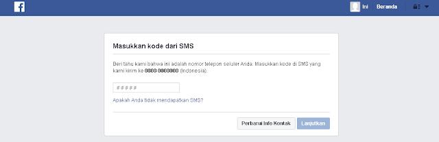 memasukkan kode facebook