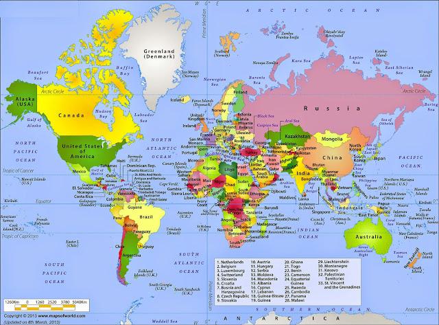 Gambar Peta Dunia resolusi tinggi