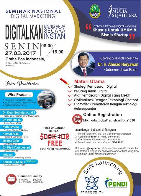 Seminar Nasional Digital Marketing 2017