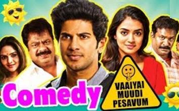 Vaayai Moodi Pesavum Tamil Movie Comedy | Dulquer | Pandiarajan | Robo Shankar | Arjunan
