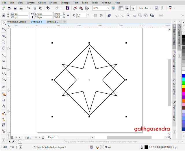 Corel Draw align to center star center circle