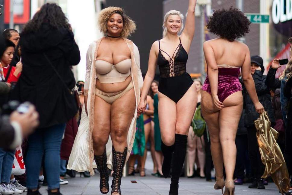 Models Of All Sizes Came Together In A Powerful, Body Positive Catwalk At Times Square
