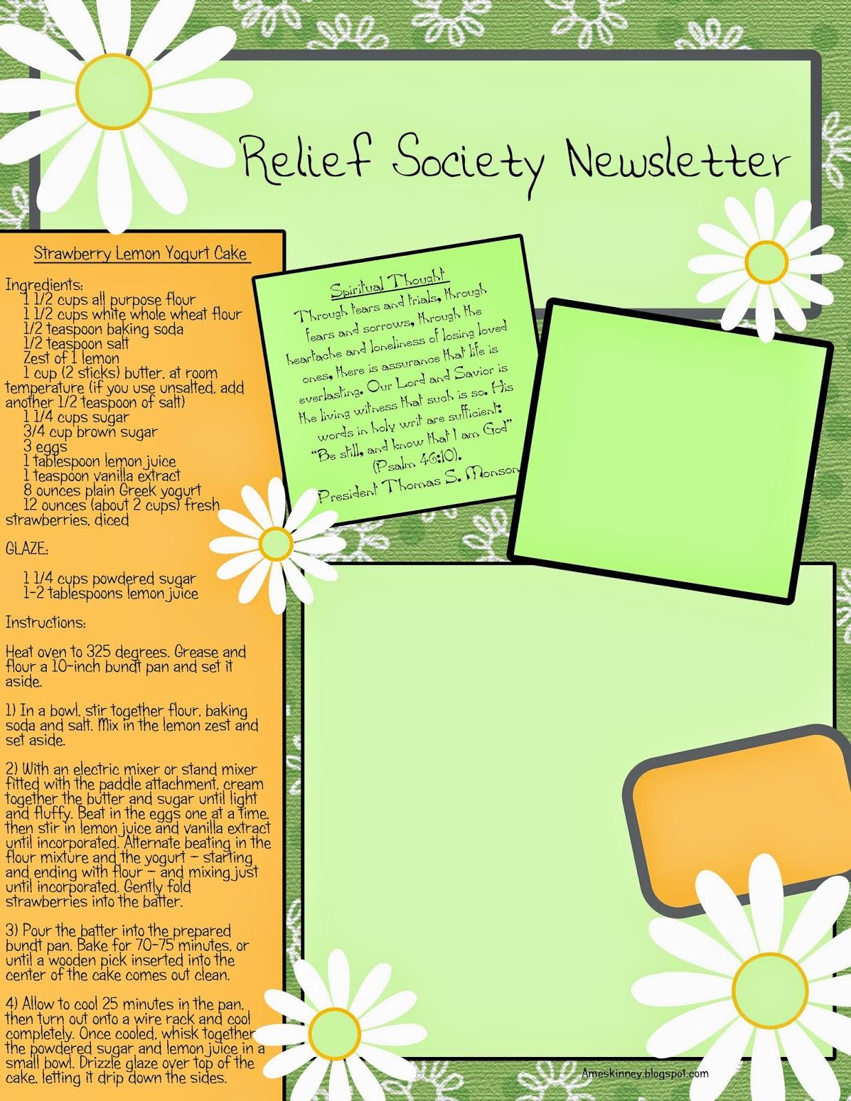 Ameskinney june 2014 for Free april newsletter template