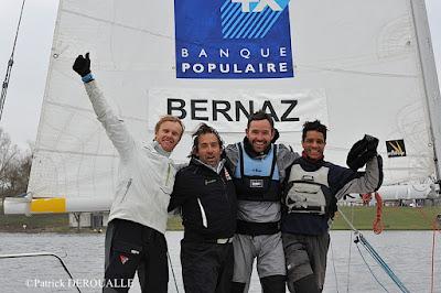Jean-Baptiste Bernaz et son équipage ont remporté le Championnat de France de Match Racing Open 2018