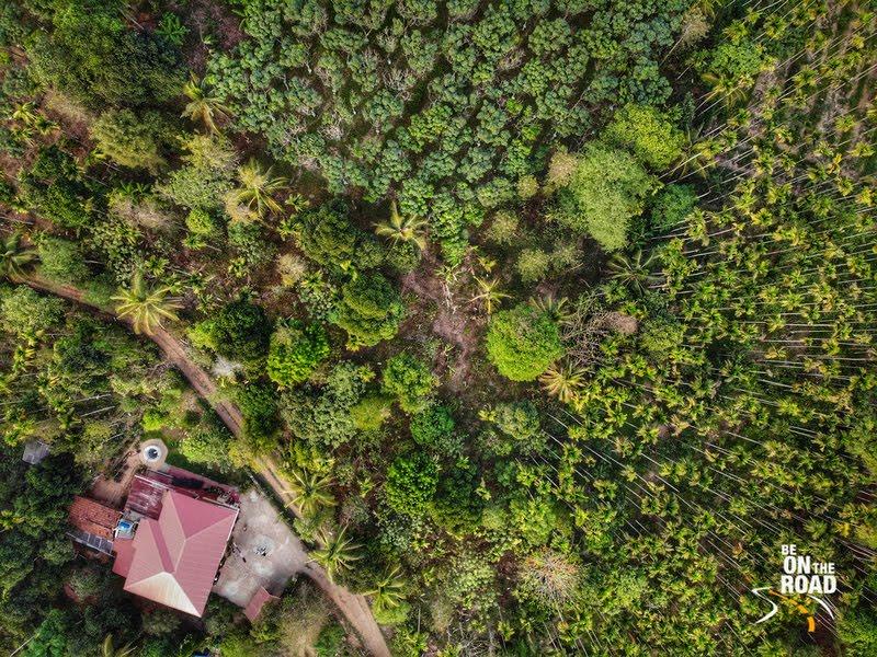Drone shot of Aham Anubhava, Mylambady, Wayanad, Kerala