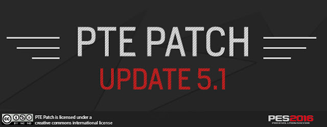 PTE PATCH UPDATE 5.1 cho PES 2016