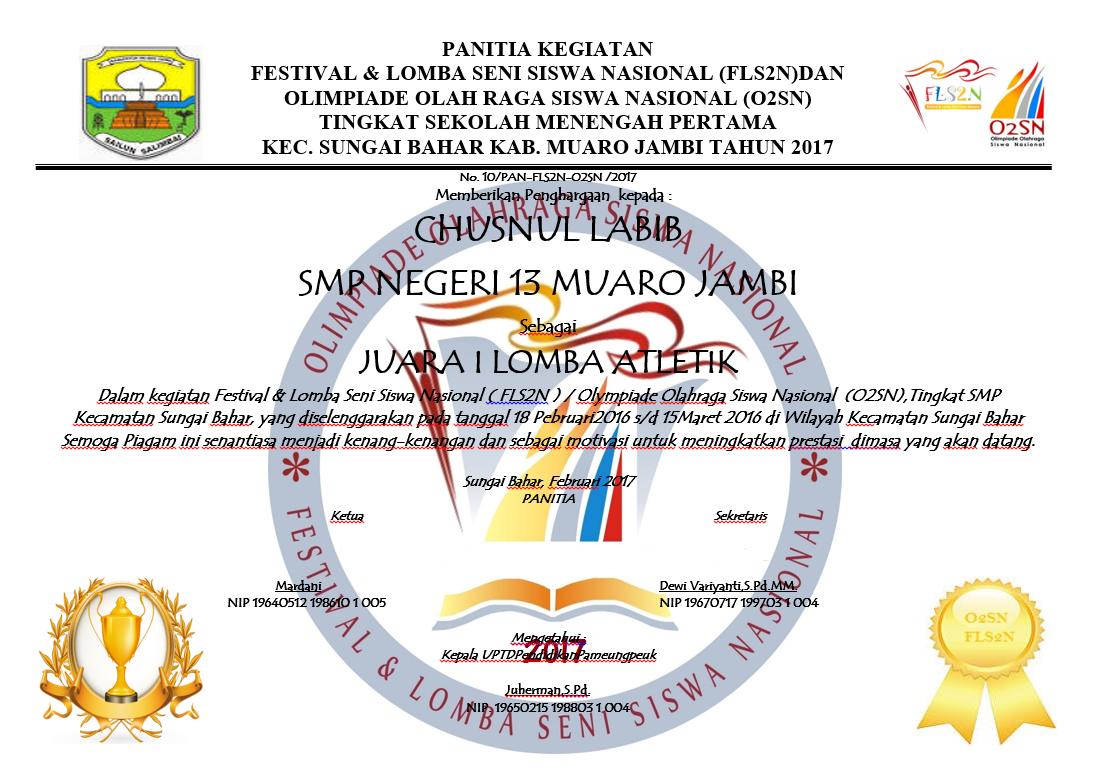 Ujian Piagam Penghargaan Untuk Sekolah Www Miifotos Com