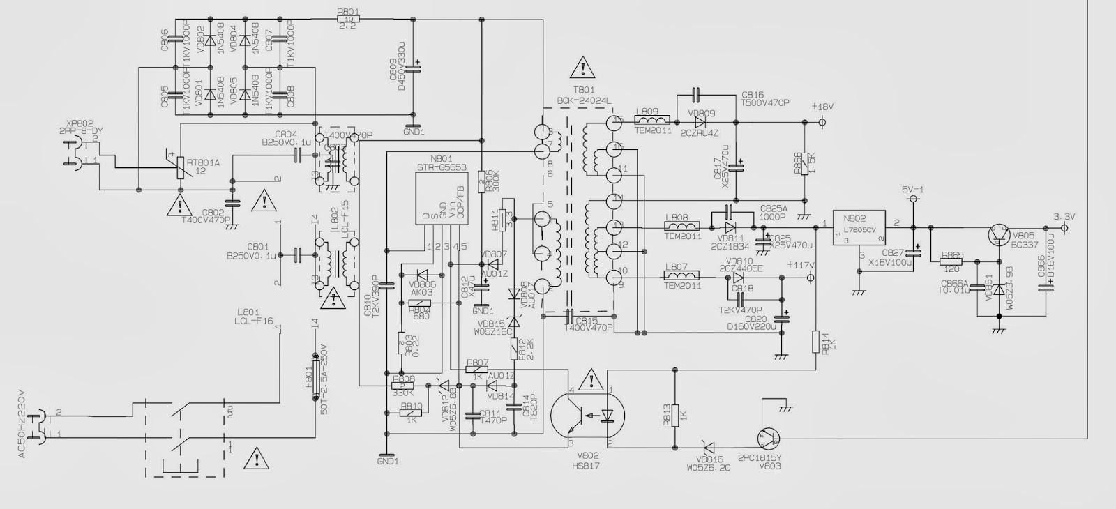 Str G5653 Based Tv Smps Schematic Circuit Diagram Electro Help Power