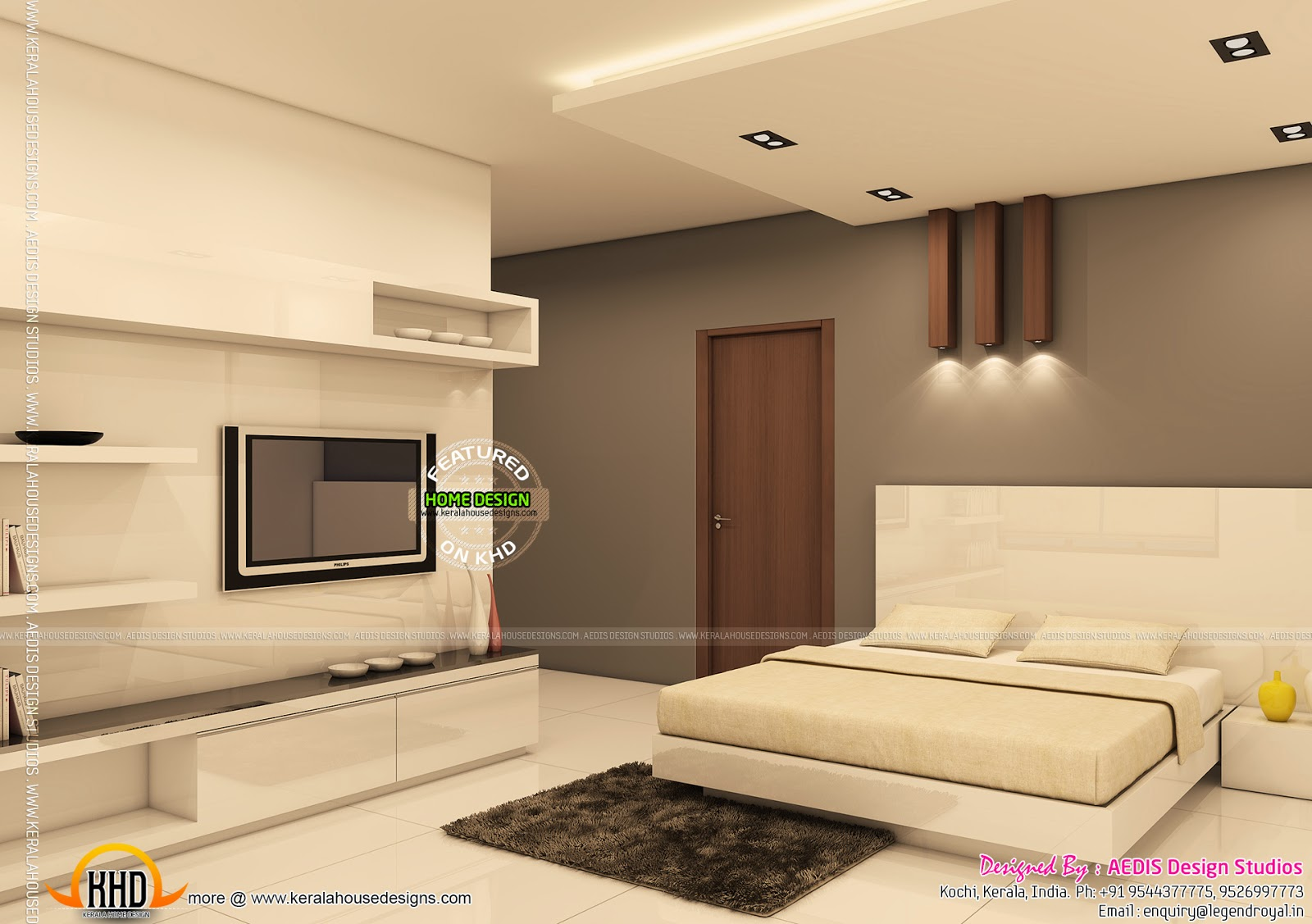 Kerala Home Front Elevation Pictures : Two house elevation with it s interiors kerala home
