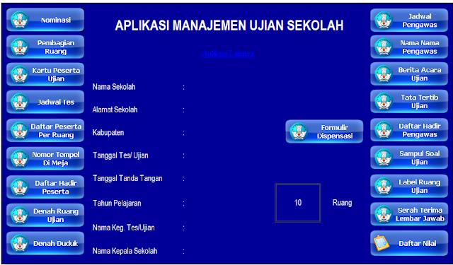 Aplikasi Manajemen Administrasi Ujian Sekolah