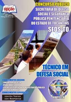 Apostila CONCURSO PÚBLICO SDS Tocantins/TO - Edital 2014