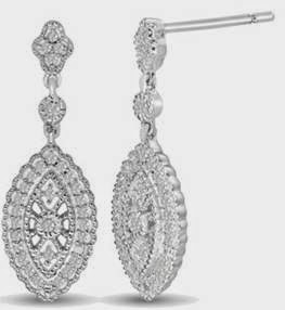 Marquise Shaped Dangle Earrings