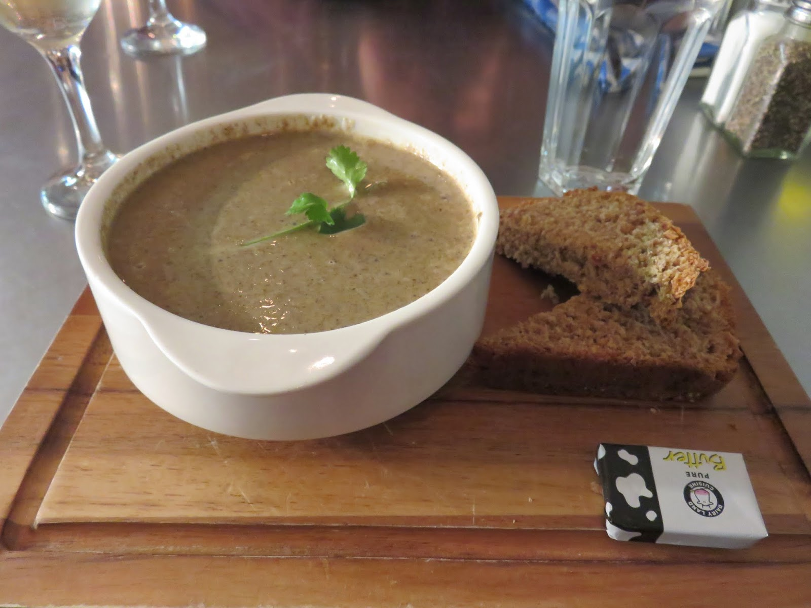 wild mushroom soup at Peperina Garden Bistro in Dublin