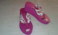 Sandal Ping Lucu (Spon Bunga Ping Cantik)