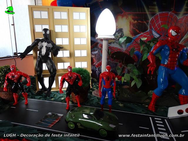 Mesa temática Homem Aranha - festa infantil - aniversário