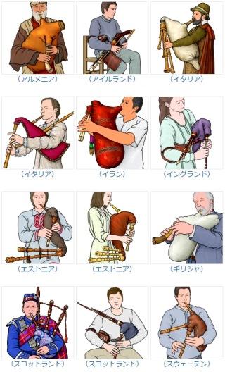 世界の楽器 バグパイプ