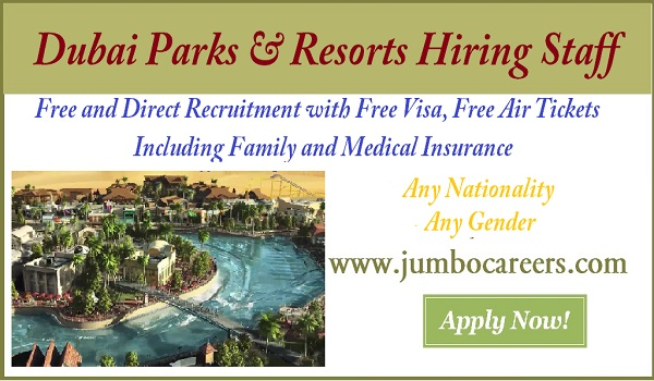 Latest jobs and Careers at Dubai Parks& Resorts, New job openings in Dubai park & Resort,