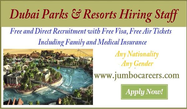 Latest jobs and Careers at Dubai Parks& Resorts, New job openings in Dubai park & Resort,