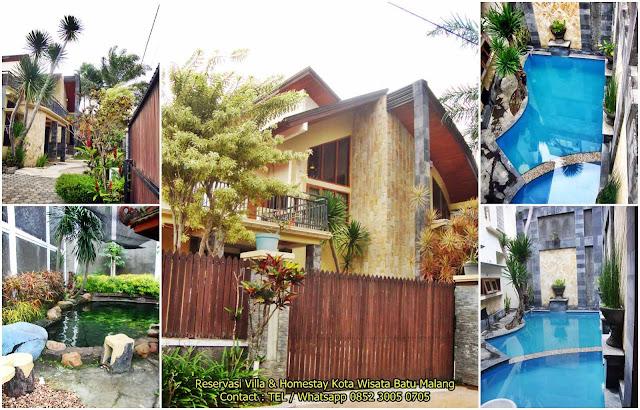 Villa Batu Malang Kolam Renang