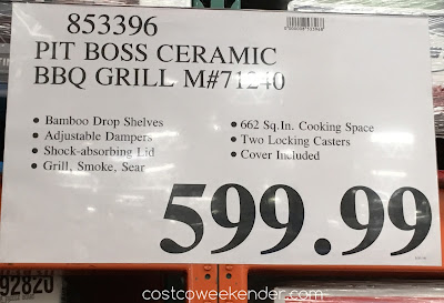 Deal for the Pit Boss Ceramic Charcoal Barbecue Grill (model 71240) at Costco