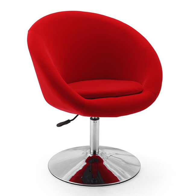 Maggie's Room: Retro-Red Swivel Leisure Chair