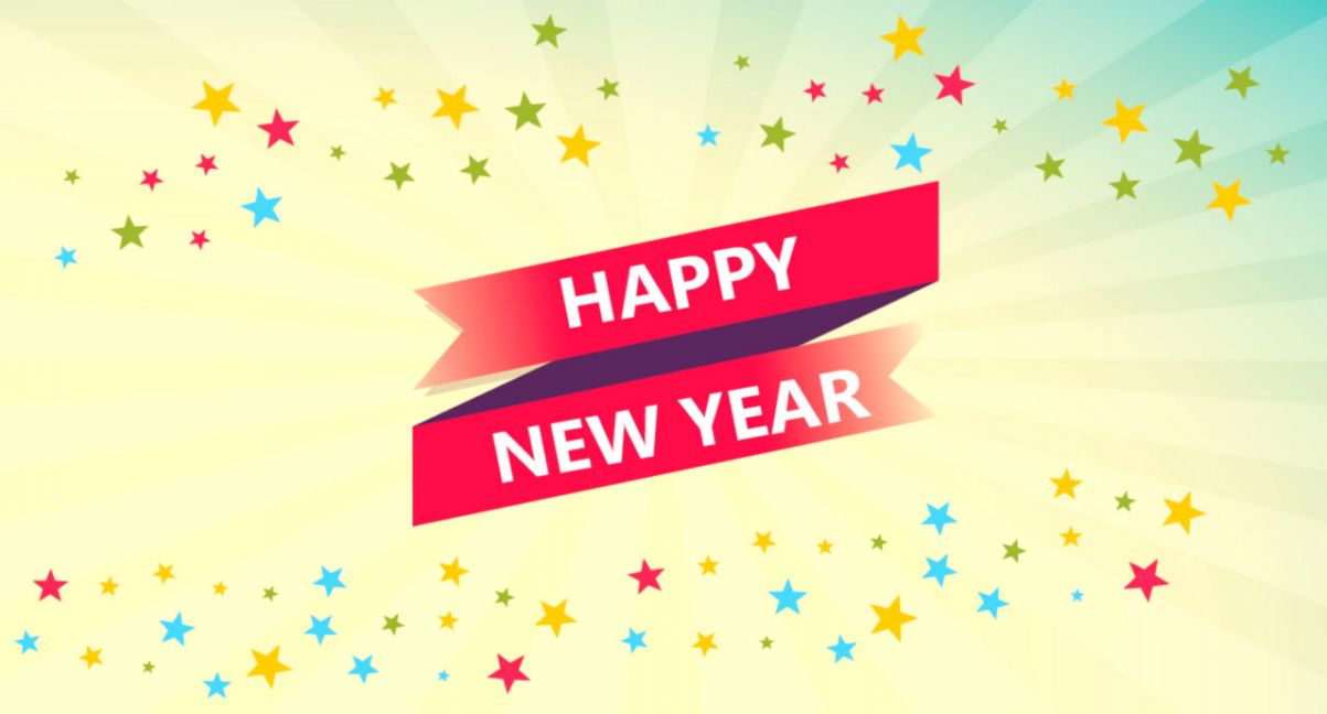 Happy New Year Simple Wallpaper  Wallpapers Awards