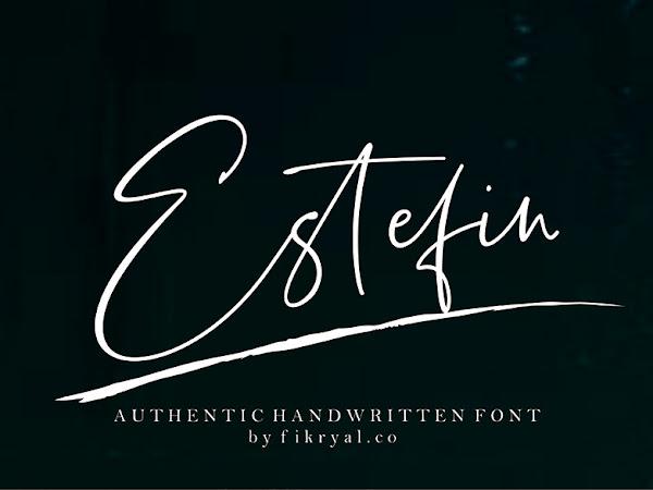 Estefin Signature Font Free Download