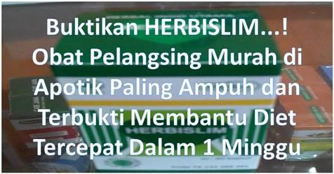 Herbislim | Herbal Indo Utama | Tidak Menyebabkan Diare