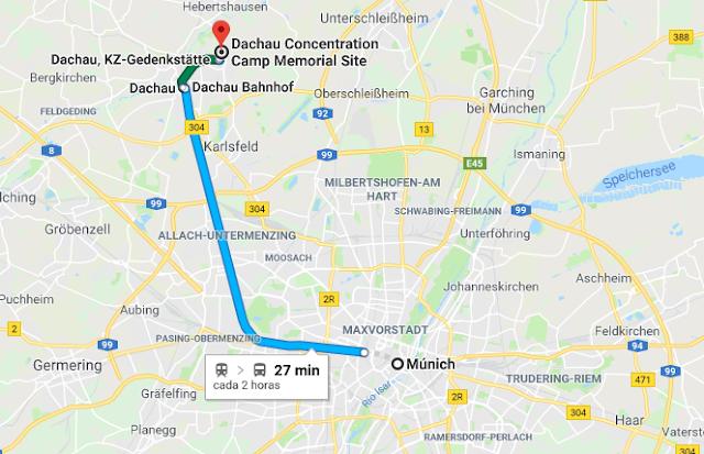 tren para ir de Múnich a Dachau
