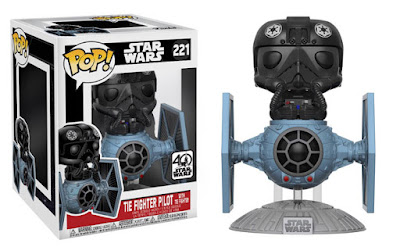 Star Wars TIE Fighter with TIE Fighter Pilot Pop! Deluxe Vinyl Figure by Funko