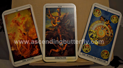 Tarot Cards, The Lovers Tarot Card, Strength Tarot Card, The Wheel of Fortune Tarot Cards, Photography, Nikon D3300