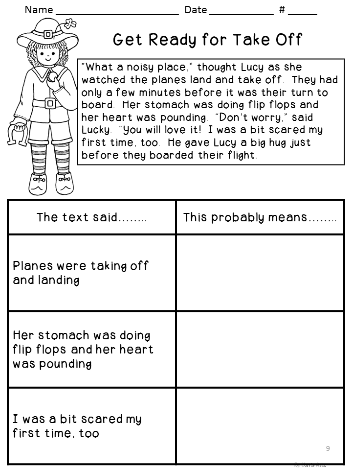 Printables Inferencing Worksheets 5th Grade 2nd grade inference worksheets davezan davezan