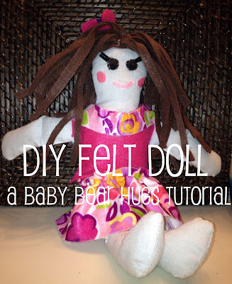 felt doll craft DIY toy
