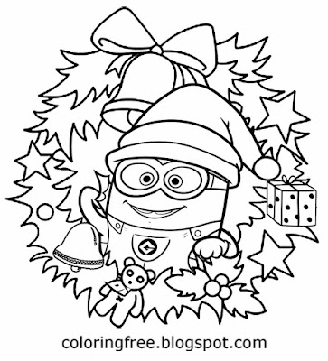 coloring minion pages with santa - photo#20
