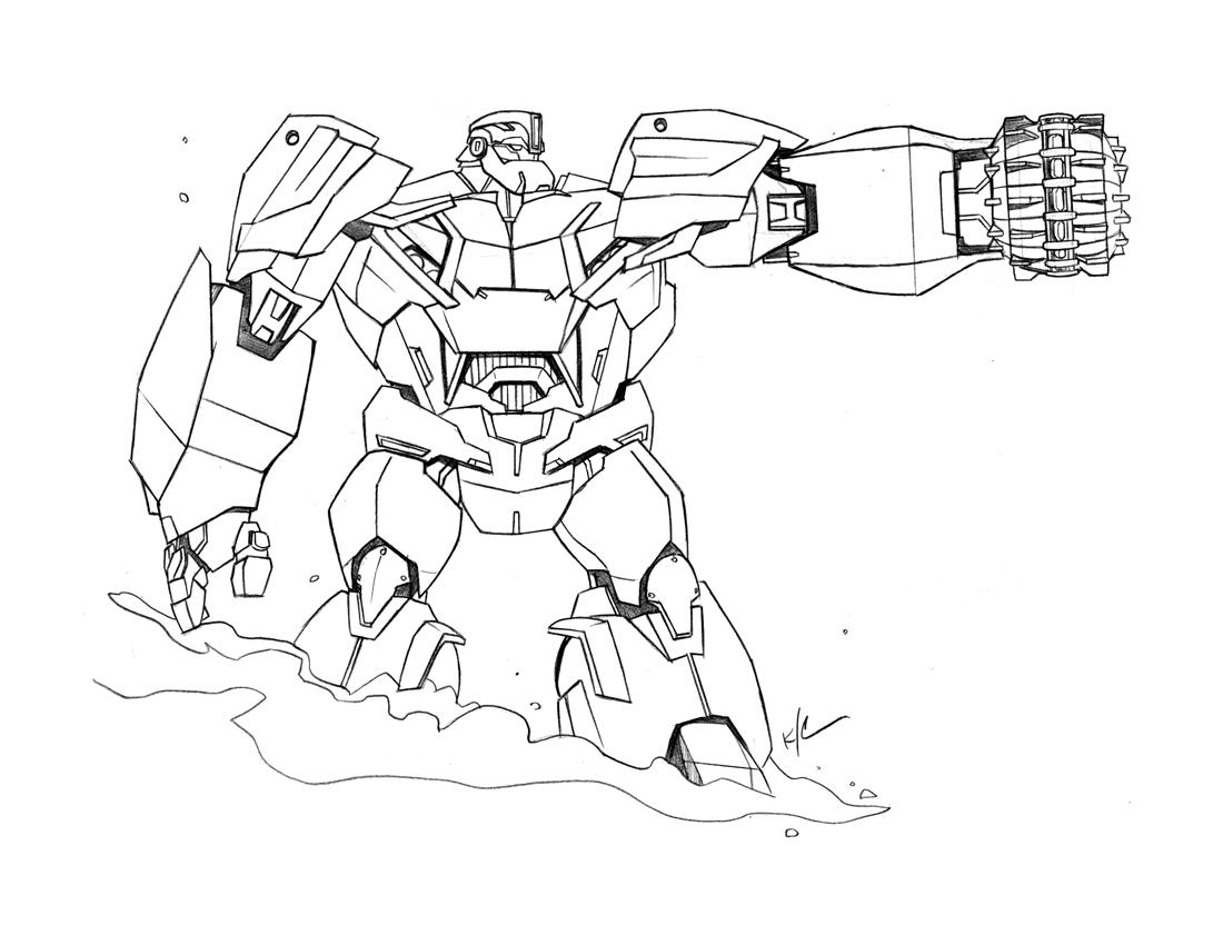 The Bad Flip Blog: Transformers : Prime Bulkhead sketch