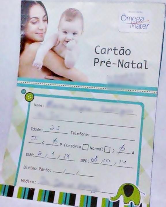 cartão pre natal