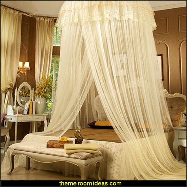 romantic bedrooms Round Lace Curtain Dome Princess color Canopy Mosquito Net