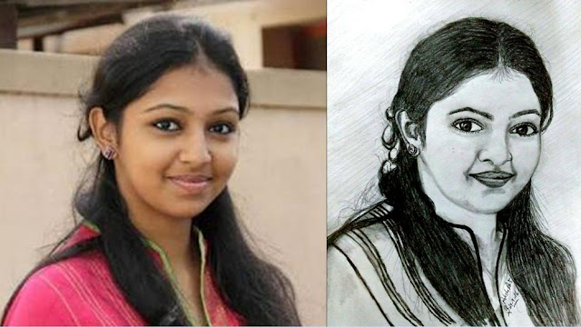 PENCIL DRAWING - Lakshmi Menon