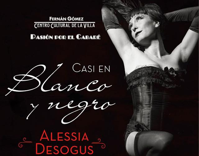 [Casi en blanco y negro], el espectáculo burlesco que Alessia Desogus trae al Teatro Fernán Gómez.