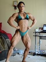 Massive biceps Female bodybuilding