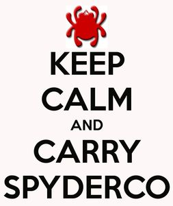 keep calm and carry spyderco