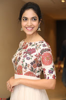 Ritu Varma smiling face Cream Anarkali dress at launch of OPPO New Selfie Camera F3 ~  Exclusive 068.JPG