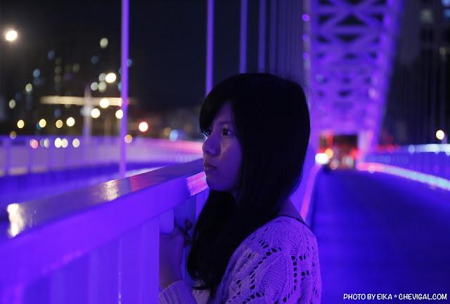 MG 0682 - 台中景點│橫跨旱溪的紫藍色彩海天橋,夜裡不可錯過的迷人紫調!
