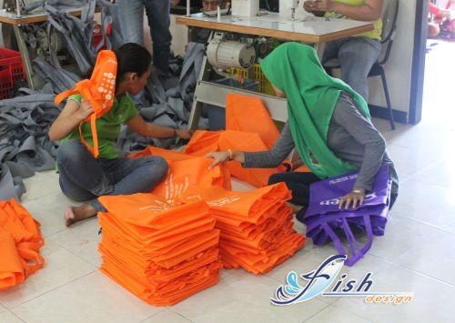 tas kain spunbond di surabaya, jual tas bahan spunbond, kerajinan tas dari kain spunbond