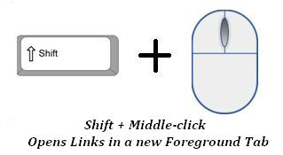 Hold Shift Key and click with your middle mouse button