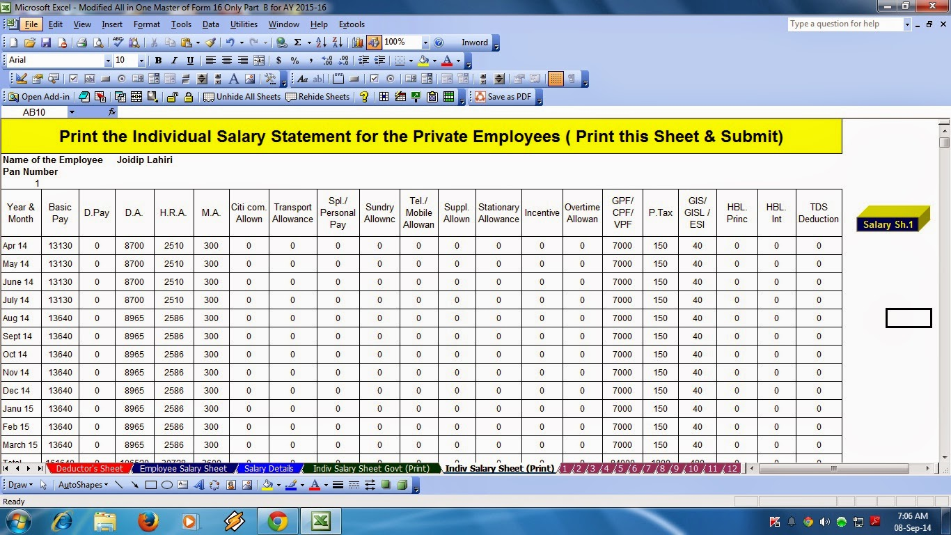 How To Calculate Income Tax In Excel Formula - in e tax ...